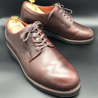 HAWKINS - Hawkins ホーキンス ビジネスシューズ プレーントゥ 革靴 ブラウン