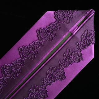 【新品】浴衣用重ね衿[薔薇のレース・紫](浴衣)