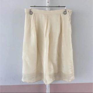 アルファキュービック(ALPHA CUBIC)のALPHA CUBIC ちょっと光沢で艶感♪裾シアースカート W62(ひざ丈スカート)