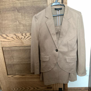 UNTITLED 茶 テーラードジャケット スカート スーツ セット 春 夏