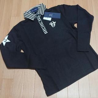 ニジュウサンク(23区)の新品 23区 ゴルフ 長袖 ボタンシャツ S 140 ブラック(Tシャツ/カットソー)