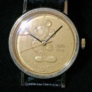 """アルバ(ALBA)の'80s SEIKO ALBA """"ミッキーマウス"""";【old】アナログ腕時計(腕時計)"""