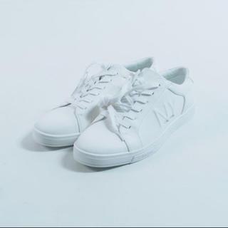 カルバンクライン(Calvin Klein)のCalvin Klein BOONE キャンバススニーカー ホワイト(スニーカー)