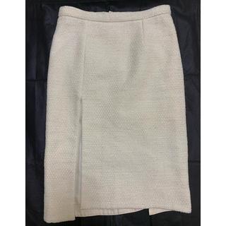 ルイヴィトン(LOUIS VUITTON)のLouis Vuitton ツイード白スカート 36 used(ひざ丈スカート)