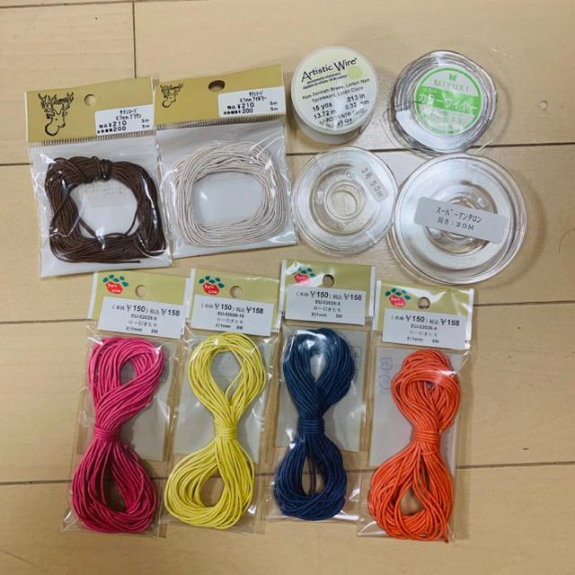 貴和製作所(キワセイサクジョ)のサテンコード ロー引きヒモ テグス ワイヤー ハンドメイドの素材/材料(各種パーツ)の商品写真