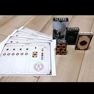 【新品 自作】大鎌戦役 サイズ オートマ用マット&カードケース セット(その他)