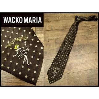 ワコマリア(WACKO MARIA)の希少美品 ワコマリア 12AW ダンシングガール 刺繍 ドット シルク ネクタイ(ネクタイ)