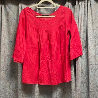 アメリカンラグシー(AMERICAN RAG CIE)の新品♡ アメリカンラグシー 赤 レッド 夏 春 チュニック ブラウス トップス(シャツ/ブラウス(長袖/七分))
