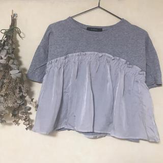 ダブルクローゼット(w closet)のw closet サテン切替プルオーバー Tシャツ(Tシャツ(半袖/袖なし))
