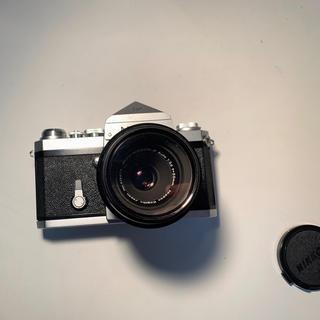 ニコン(Nikon)の『美品!』Nikon F アイレベル 1:3.5 f55mmレンズ付 動作確認済(フィルムカメラ)