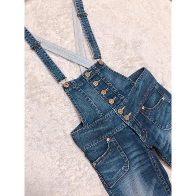 SLY(スライ)の2123.SLY サロペ スキニーパンツ 裾ファスナーデザイン デニム レディースのパンツ(サロペット/オーバーオール)の商品写真