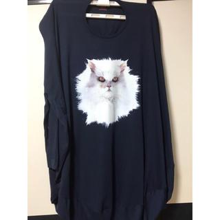 ヴィヴィアンウエストウッド(Vivienne Westwood)のヴィヴィアンウエストウッド 服 ビビアン ネイビー 猫(Tシャツ(長袖/七分))