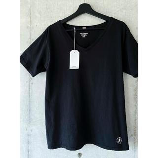 ベドウィン(BEDWIN)の美品 ベドウィン bedwin  Vネック Tシャツ 3 ブラック 黒(Tシャツ/カットソー(半袖/袖なし))
