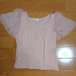 エニィスィス(anySiS)の半袖 カットソー ピンク(Tシャツ(半袖/袖なし))