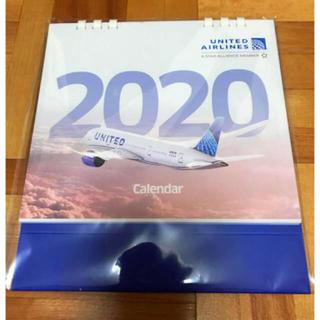 エーエヌエー(ゼンニッポンクウユ)(ANA(全日本空輸))の新品 ユナイテッド航空 2020 カレンダー(カレンダー/スケジュール)