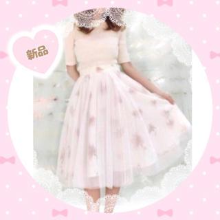 ダズリン(dazzlin)のダズリン オーガンジー フラワー スカート♡(ひざ丈スカート)