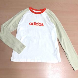 アディダス(adidas)のadidas ラグラン ロングスリーブロゴTシャツ(Tシャツ(長袖/七分))