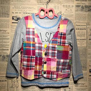 エックスガール(X-girl)のX-girl エックスガール 長袖カットソー 長袖Tシャツ サイズ4T 100㎝(Tシャツ/カットソー)