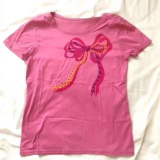 ワコール(Wacoal)の【最終価格】ワコール 半袖Tシャツ リボン柄 ピンク Mサイズ(Tシャツ(半袖/袖なし))