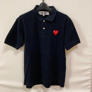 コムデギャルソン(COMME des GARCONS)のプレイコム・デ・ギャルソン ブラックポロシャツ(赤ハート)(ポロシャツ)