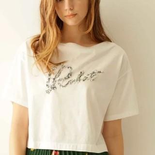 グレースコンチネンタル(GRACE CONTINENTAL)のグレースコンチネンタルビーズ刺繍ロゴTシャツ(Tシャツ(半袖/袖なし))