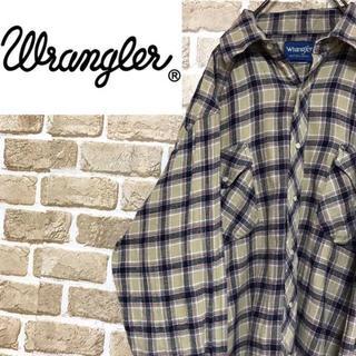 ラングラー(Wrangler)の【ラングラー 】チェックフランネルシャツ 長袖 ウエスタン スナップボタン(シャツ)