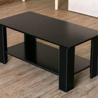 送料無料 【アウトレット】棚付センターテーブル ブラック(ローテーブル)