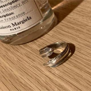 ハンドメイド♪ シルバー♪ フェザー♪ リング(指輪)♪ アクセサリー♪(リング)