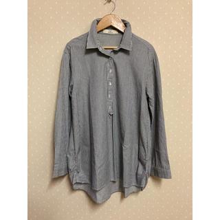 イッカ(ikka)のikka ストライプシャツ Mサイズ(シャツ/ブラウス(長袖/七分))