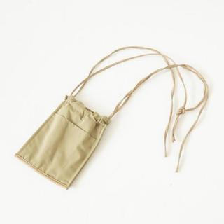 シールームリン(SeaRoomlynn)のECO LEATHER-LINE MINI BAG カーキ(ショルダーバッグ)