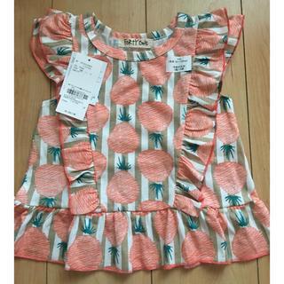 フォーティーワン(FORTY ONE)の新品 Tシャツ チュニック パイナップル 100(Tシャツ/カットソー)