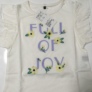 ユナイテッドアローズ(UNITED ARROWS)のTシャツ ロゴ×フラワー刺しゅう(Tシャツ/カットソー)