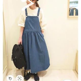 サマンサモスモス(SM2)の新品タグ付き サマンサモスモス ジャンパースカート ブルー(その他)