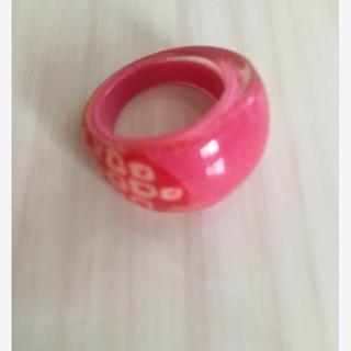 ピンク 指輪 べっこう風(リング(指輪))