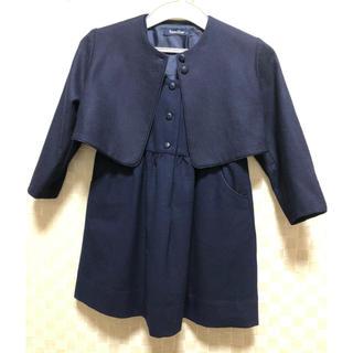 ファミリア(familiar)のファミリア フォーマルワンピース 紺 サイズ115(ドレス/フォーマル)