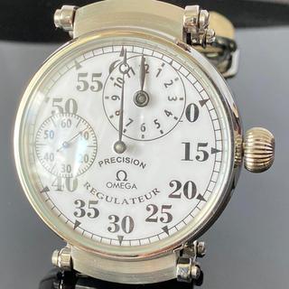 オメガ(OMEGA)の★OH済★オメガ★スケルトン OMEGA レギュレーター 手巻き 白文字盤(腕時計(アナログ))
