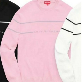 シュプリーム(Supreme)の国内正規品 Love supreme Sweater  Large  Pink(ニット/セーター)