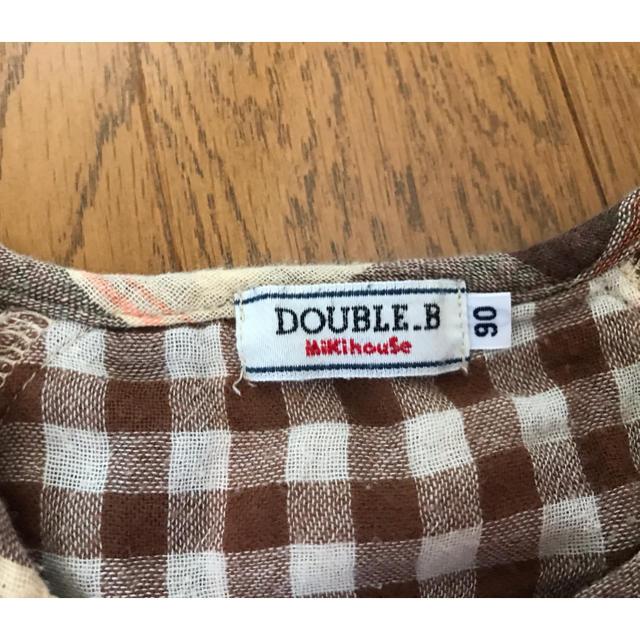 DOUBLE.B(ダブルビー)のミキハウス ブラウス キッズ/ベビー/マタニティのキッズ服女の子用(90cm~)(ブラウス)の商品写真
