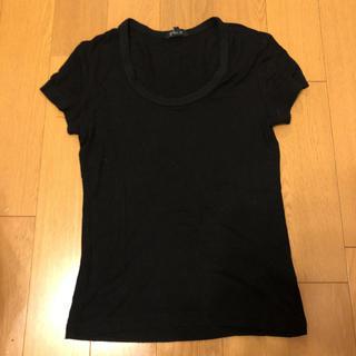 エムプルミエ(M-premier)のエムプルミエ 黒 Tシャツ 日本製(Tシャツ(半袖/袖なし))