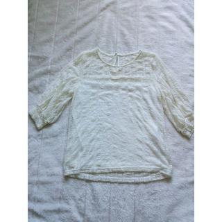 829 シフォン シャツブラウス 白(シャツ/ブラウス(半袖/袖なし))