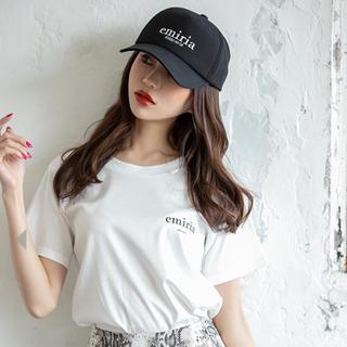 エミリアウィズ(EmiriaWiz)の💖EmiriaWiz エミリアウィズ💖新品ワンポイントロゴTシャツMホワイト(Tシャツ(半袖/袖なし))