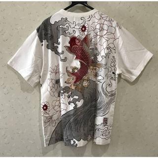 カラクリタマシイ(絡繰魂)の*繰魂 和柄 鯉刺繍 メニーポケット プリント 半袖Tシャツ XL(Tシャツ/カットソー(半袖/袖なし))