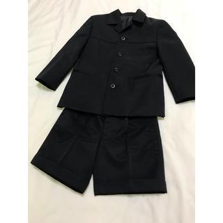 バーバリー(BURBERRY)の美品 バーバリー スーツ 110 セットアップ ジャケット パンツ 黒 七五三(ドレス/フォーマル)