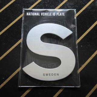ボルボ(Volvo)のNATIONAL VEHICLE ID PLATE(SWEDEN) ×2枚セット(車外アクセサリ)