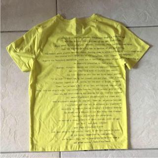 ピーピーエフエム(PPFM)の美品 PPFM メンズ 黄色 Tシャツバックプリント(Tシャツ/カットソー(半袖/袖なし))