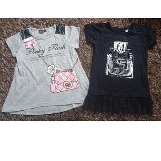 チュニック トップス Tシャツ 2枚セット(Tシャツ/カットソー)