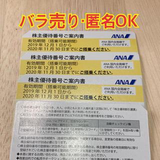エーエヌエー(ゼンニッポンクウユ)(ANA(全日本空輸))のANA 全日空 株主優待券 4枚(その他)