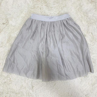ラグナムーン(LagunaMoon)のラグナムーン フレア スカート ライトグレー(ひざ丈スカート)