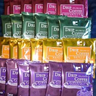 ティーライフ(Tea Life)のドリップコーヒー TeaLife 4種 24袋 キリマンジャロ モカ グァテマラ(コーヒー)