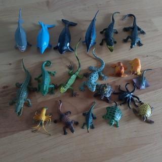 ニシマツヤ(西松屋)の海の動物 爬虫類 フィギュア 20個 セット まとめ売り(キャラクターグッズ)
